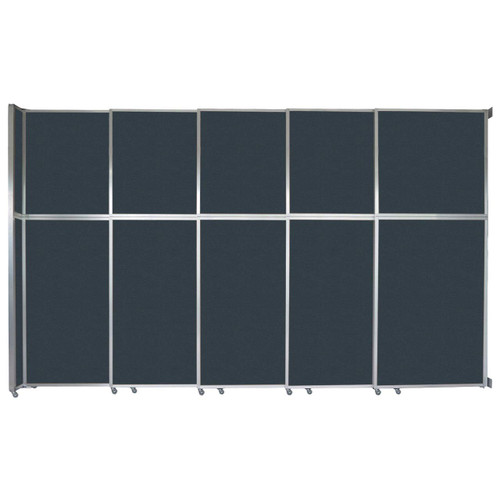 "Operable Wall Sliding Room Divider 15'7"" x 10'3/4"" Blue Spruce Fabric"