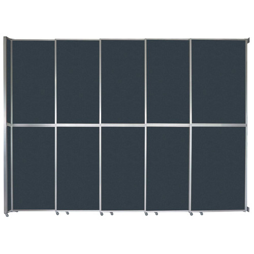 """Operable Wall Sliding Room Divider 15'7"""" x 12'3"""" Blue Spruce Fabric"""