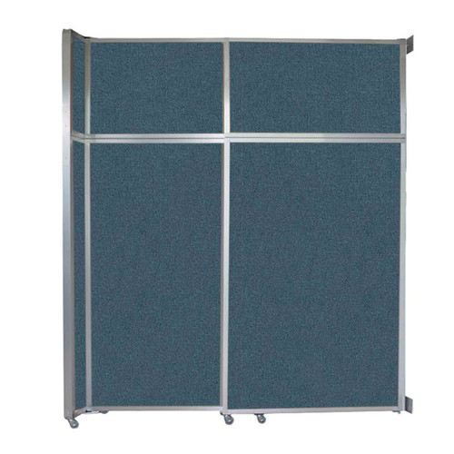 "Operable Wall Sliding Room Divider 6'10"" x 8'5-1/4"" Caribbean Fabric"