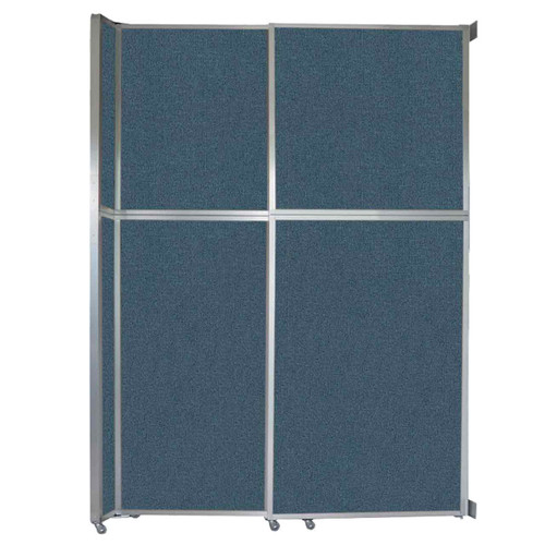 """Operable Wall Sliding Room Divider 6'10"""" x 10'3/4"""" Caribbean Fabric"""