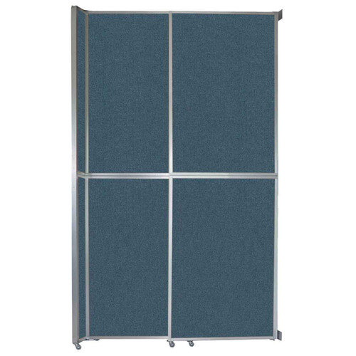 "Operable Wall Sliding Room Divider 6'10"" x 12'3"" Caribbean Fabric"