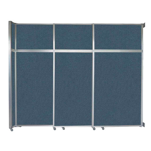 """Operable Wall Sliding Room Divider 9'9"""" x 8'5-1/4"""" Caribbean Fabric"""