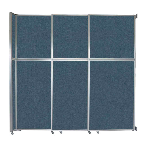 """Operable Wall Sliding Room Divider 9'9"""" x 10'3/4"""" Caribbean Fabric"""