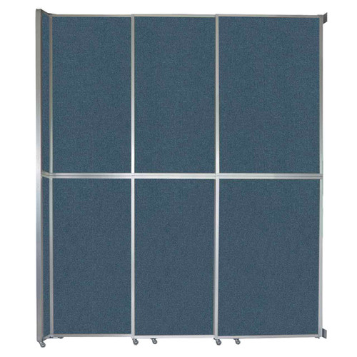 "Operable Wall Sliding Room Divider 9'9"" x 12'3"" Caribbean Fabric"
