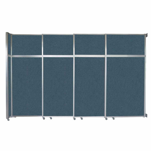 "Operable Wall Sliding Room Divider 12'8"" x 8'5-1/4"" Caribbean Fabric"