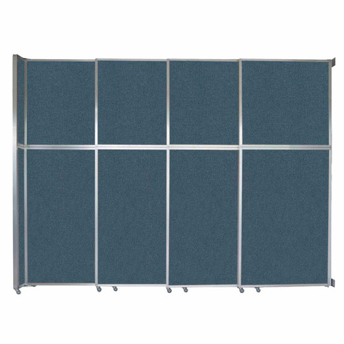 """Operable Wall Sliding Room Divider 12'8"""" x 10'3/4"""" Caribbean Fabric"""