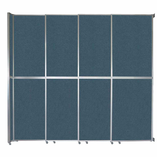 "Operable Wall Sliding Room Divider 12'8"" x 12'3"" Caribbean Fabric"