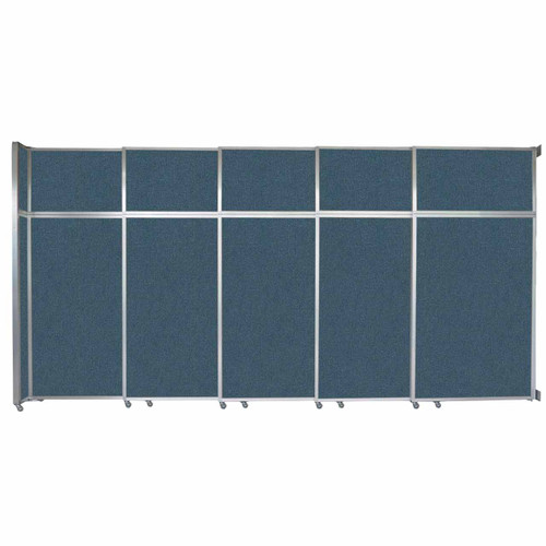 """Operable Wall Sliding Room Divider 15'7"""" x 8'5-1/4"""" Caribbean Fabric"""