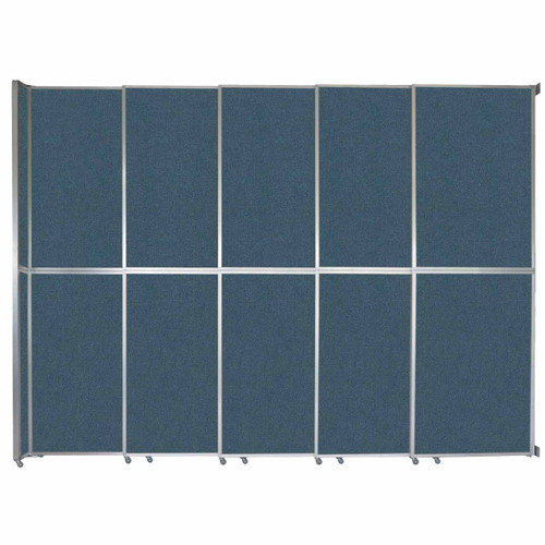 """Operable Wall Sliding Room Divider 15'7"""" x 12'3"""" Caribbean Fabric"""