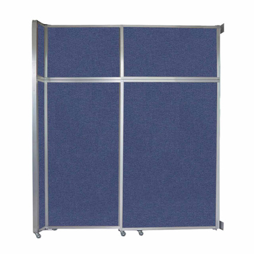 """Operable Wall Sliding Room Divider 6'10"""" x 8'5-1/4"""" Cerulean Fabric"""