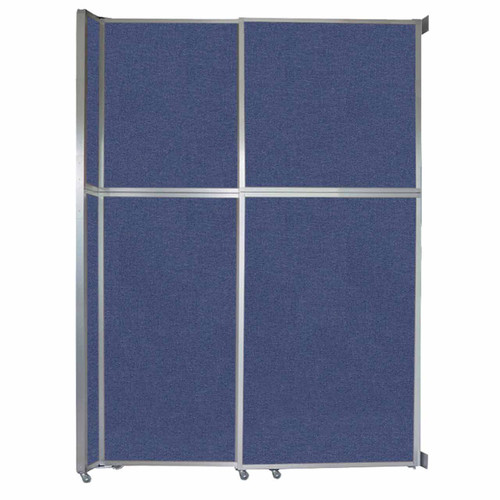 """Operable Wall Sliding Room Divider 6'10"""" x 10'3/4"""" Cerulean Fabric"""