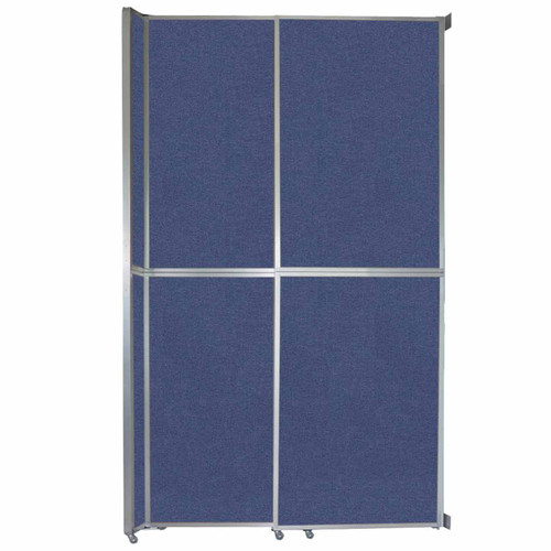 "Operable Wall Sliding Room Divider 6'10"" x 12'3"" Cerulean Fabric"