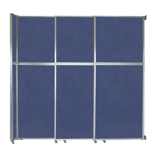 """Operable Wall Sliding Room Divider 9'9"""" x 10'3/4"""" Cerulean Fabric"""