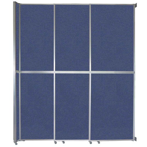 """Operable Wall Sliding Room Divider 9'9"""" x 12'3"""" Cerulean Fabric"""