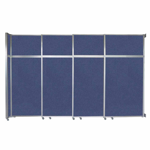 """Operable Wall Sliding Room Divider 12'8"""" x 8'5-1/4"""" Cerulean Fabric"""