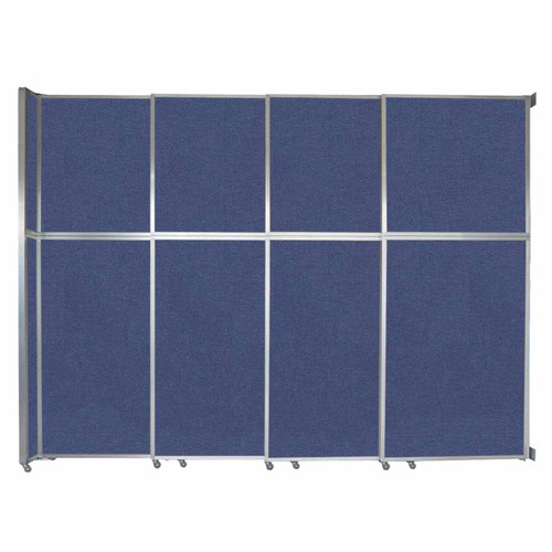 """Operable Wall Sliding Room Divider 12'8"""" x 10'3/4"""" Cerulean Fabric"""