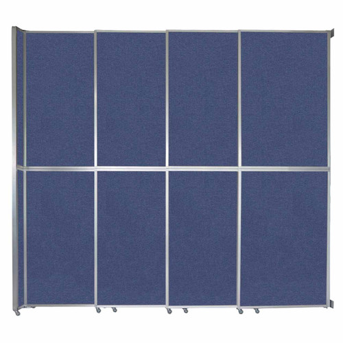 "Operable Wall Sliding Room Divider 12'8"" x 12'3"" Cerulean Fabric"