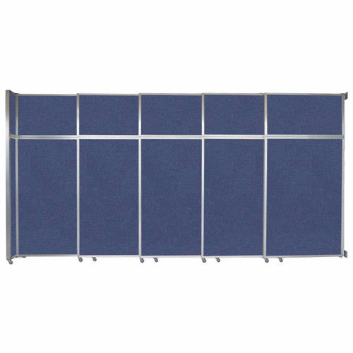 """Operable Wall Sliding Room Divider 15'7"""" x 8'5-1/4"""" Cerulean Fabric"""