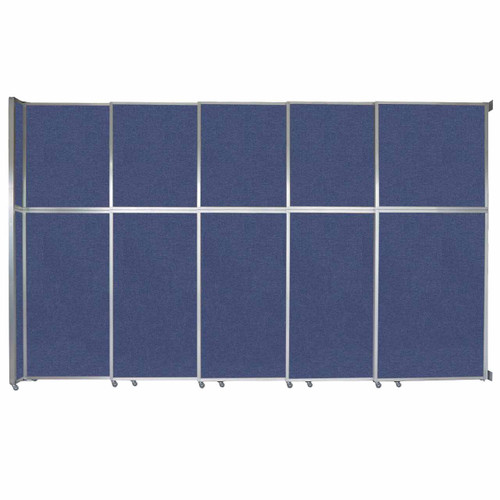 """Operable Wall Sliding Room Divider 15'7"""" x 10'3/4"""" Cerulean Fabric"""
