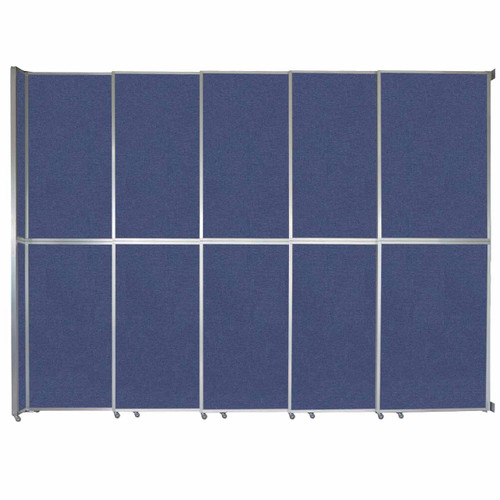 "Operable Wall Sliding Room Divider 15'7"" x 12'3"" Cerulean Fabric"