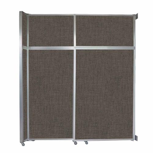 "Operable Wall Sliding Room Divider 6'10"" x 8'5-1/4"" Mocha Fabric"