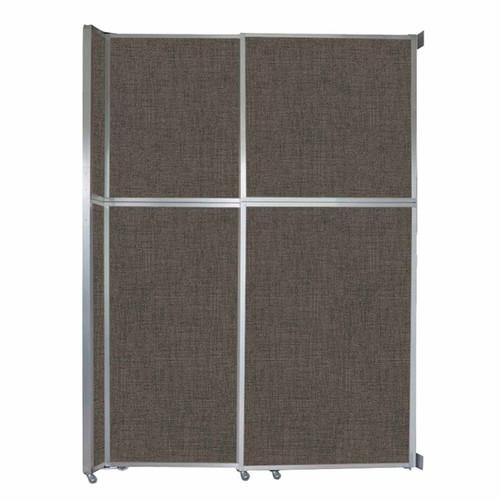 "Operable Wall Sliding Room Divider 6'10"" x 10'3/4"" Mocha Fabric"