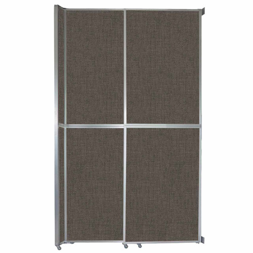 "Operable Wall Sliding Room Divider 6'10"" x 12'3"" Mocha Fabric"
