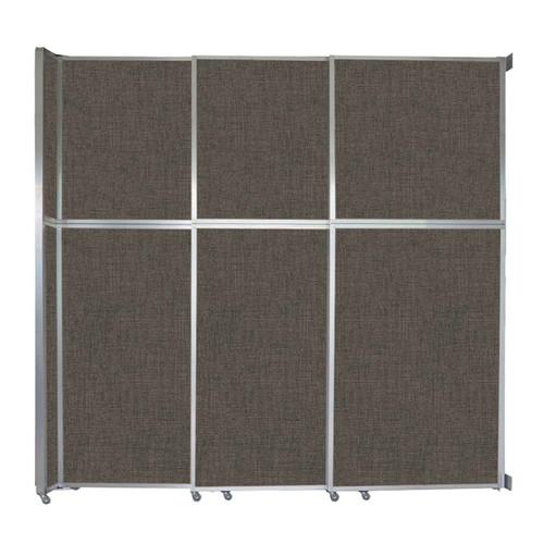 "Operable Wall Sliding Room Divider 9'9"" x 10'3/4"" Mocha Fabric"