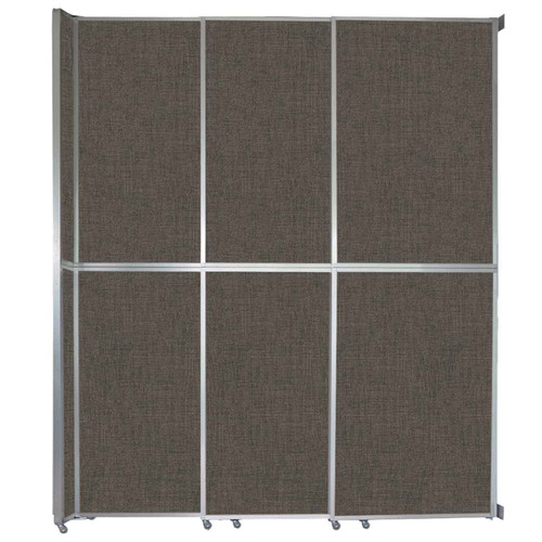 "Operable Wall Sliding Room Divider 9'9"" x 12'3"" Mocha Fabric"