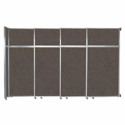"Operable Wall Sliding Room Divider 12'8"" x 8'5-1/4"" Mocha Fabric"