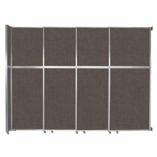 "Operable Wall Sliding Room Divider 12'8"" x 10'3/4"" Mocha Fabric"