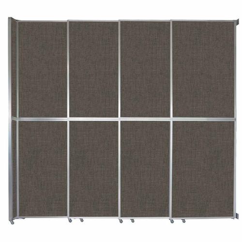 "Operable Wall Sliding Room Divider 12'8"" x 12'3"" Mocha Fabric"