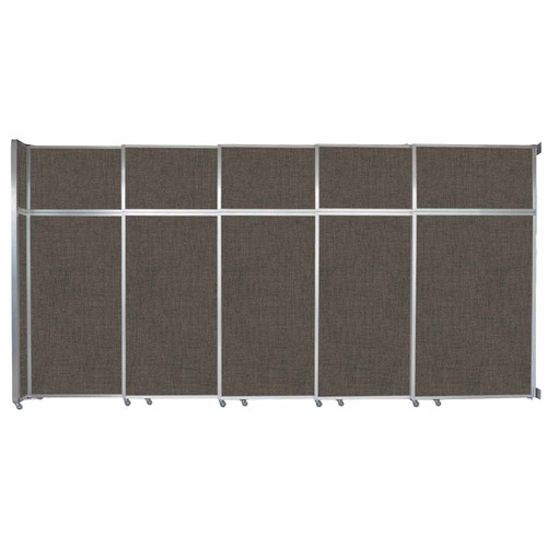 "Operable Wall Sliding Room Divider 15'7"" x 8'5-1/4"" Mocha Fabric"