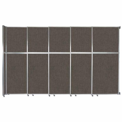 "Operable Wall Sliding Room Divider 15'7"" x 10'3/4"" Mocha Fabric"