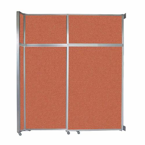 """Operable Wall Sliding Room Divider 6'10"""" x 8'5-1/4"""" Papaya Fabric"""