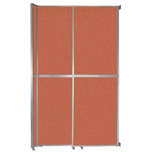 """Operable Wall Sliding Room Divider 6'10"""" x 12'3"""" Papaya Fabric"""