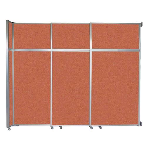 """Operable Wall Sliding Room Divider 9'9"""" x 8'5-1/4"""" Papaya Fabric"""