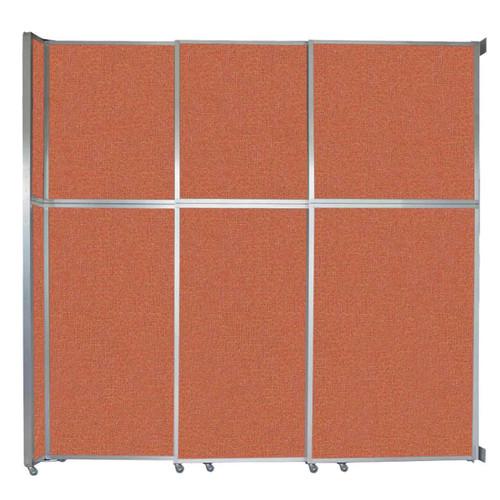 """Operable Wall Sliding Room Divider 9'9"""" x 10'3/4"""" Papaya Fabric"""