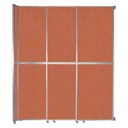 """Operable Wall Sliding Room Divider 9'9"""" x 12'3"""" Papaya Fabric"""