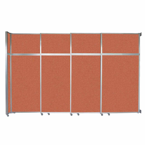 """Operable Wall Sliding Room Divider 12'8"""" x 8'5-1/4"""" Papaya Fabric"""