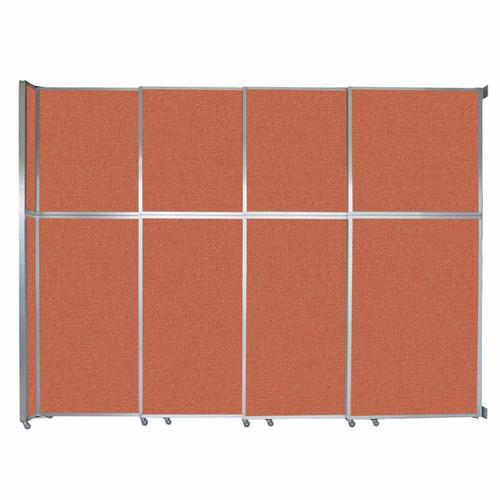 """Operable Wall Sliding Room Divider 12'8"""" x 10'3/4"""" Papaya Fabric"""