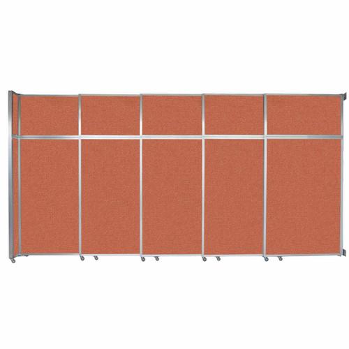 """Operable Wall Sliding Room Divider 15'7"""" x 8'5-1/4"""" Papaya Fabric"""