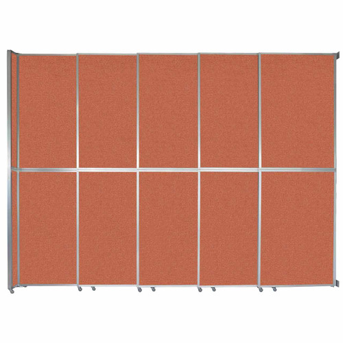 "Operable Wall Sliding Room Divider 15'7"" x 12'3"" Papaya Fabric"