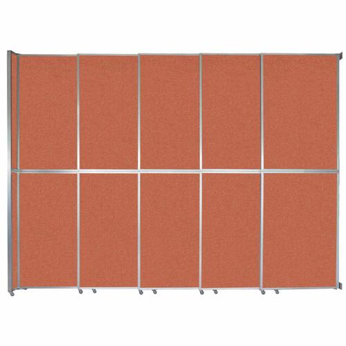 """Operable Wall Sliding Room Divider 15'7"""" x 12'3"""" Papaya Fabric"""