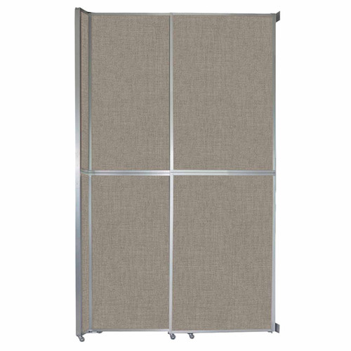 """Operable Wall Sliding Room Divider 6'10"""" x 12'3"""" Warm Pebble Fabric"""