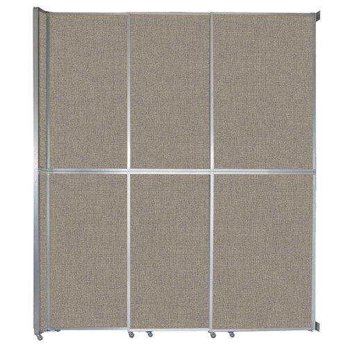 """Operable Wall Sliding Room Divider 9'9"""" x 12'3"""" Warm Pebble Fabric"""