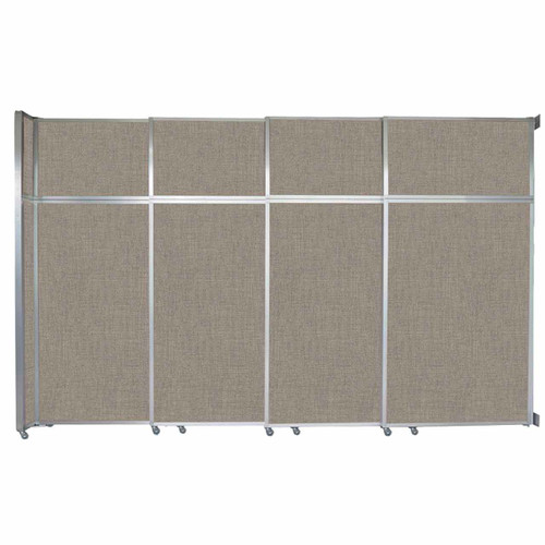 "Operable Wall Sliding Room Divider 12'8"" x 8'5-1/4"" Warm Pebble Fabric"