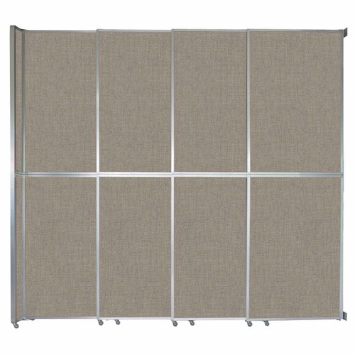 """Operable Wall Sliding Room Divider 12'8"""" x 12'3"""" Warm Pebble Fabric"""