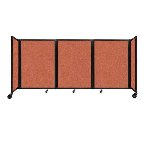 """Room Divider 360 Folding Portable Partition 8'6"""" x 4' Papaya Fabric"""
