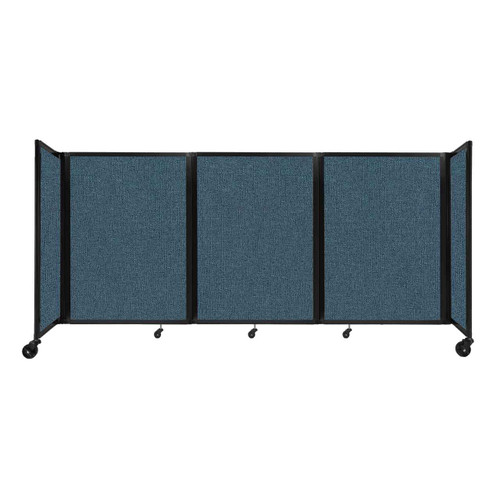 """Room Divider 360 Folding Portable Partition 8'6"""" x 4' Caribbean Fabric"""